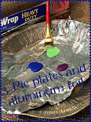 3. Pie plates and aluminum foil