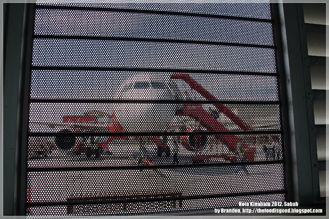 Window grille kota kinabalu - The Pull Down Grills Give The Plane A Kind Of Surreal Look