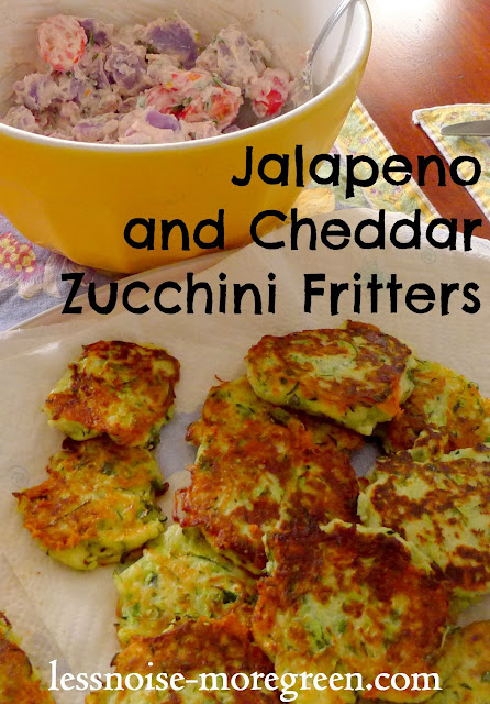 Jalapeno and Cheddar Zucchini Fritters Recipe