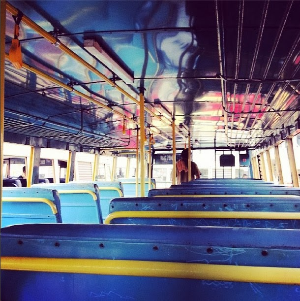 A empty bus in Fort Cochin, Kerala