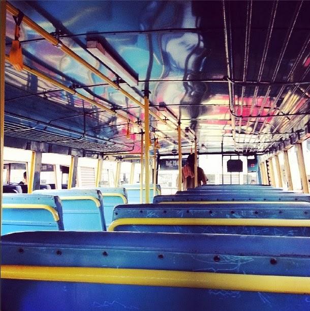 A empty bus in Fort Cochin, Kerala