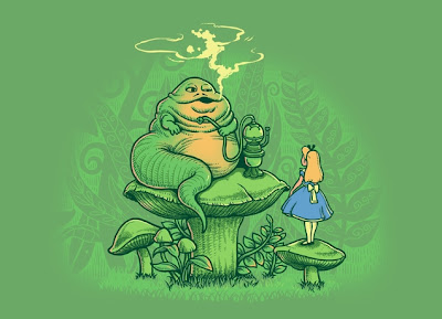 "Threadless Star Wars x Alice in Wonderland T-Shirt ""Imitated Caterpillar"""