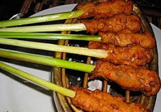 Bali style Minced Seafood Satay Sate Lilit Bali