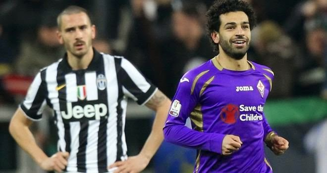 Mohamed Salah scores twice as Fiorentina beat Juventus in Coppa Italia