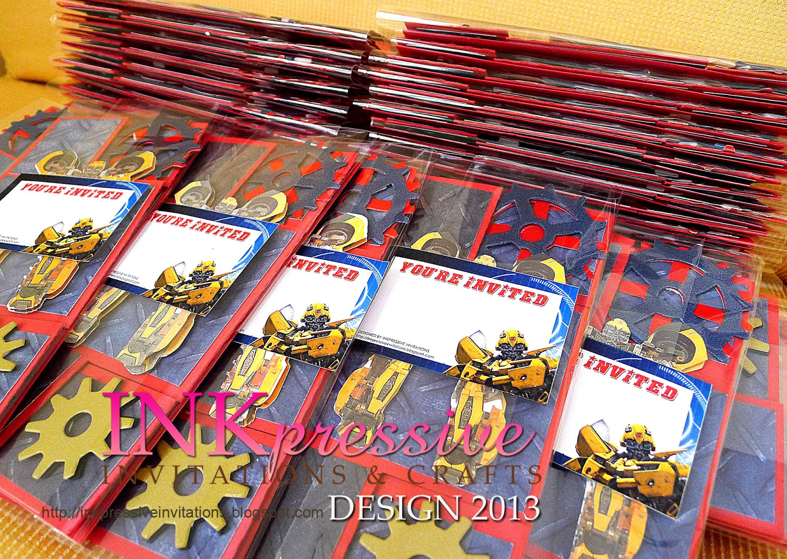 Tri shutter card Transformers Bumble Bee Invite | INKPRESSIVE ...
