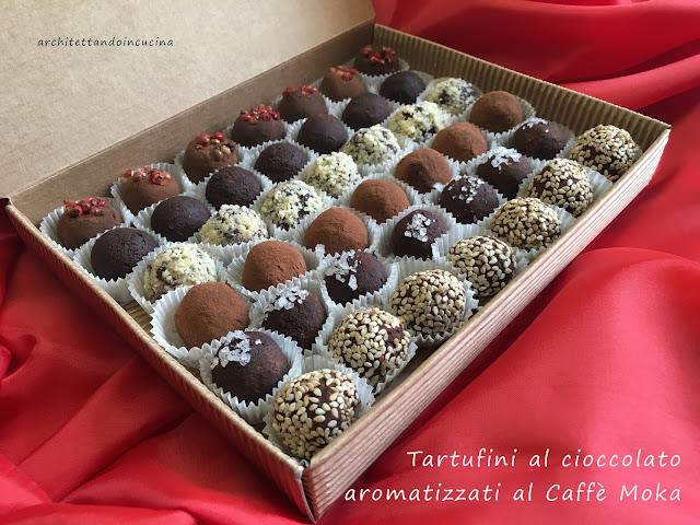 tartufini di cioccolato fondente aromatizzati al caffè moka per chiudere il blog tour delle marche