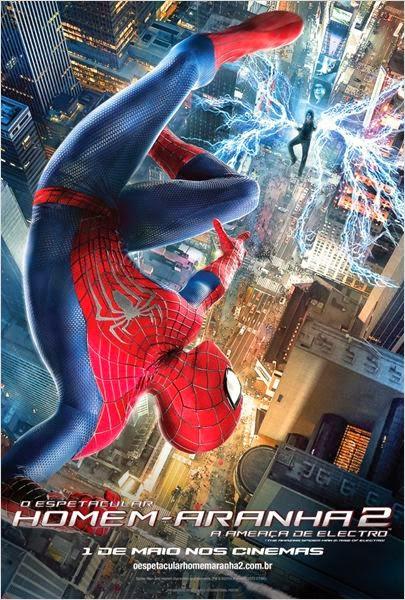 """Poster do filme """"O Espetacular Homem-Aranha 2: A Ameaça de Electro"""""""
