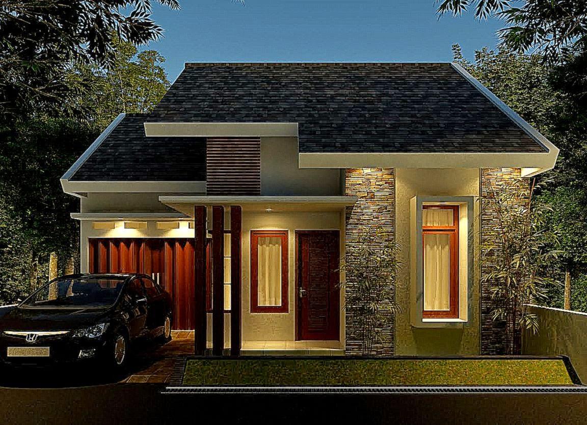 Rumah Minimalis Tampak Depan Dengan Batu Alam  Desain Rumah