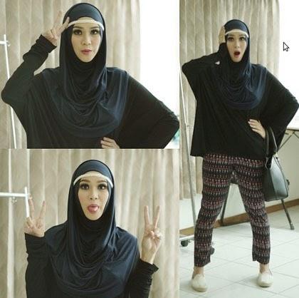 Foto Hijab Zaskia Adya Mecca 2014 Hijab Style Gaya Baru