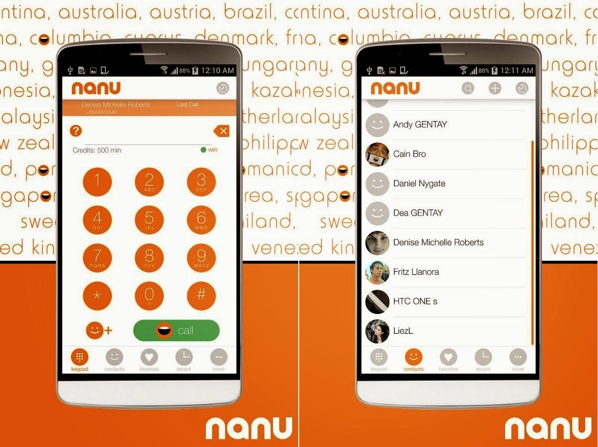 برنامج nanu 2014 للاتصال المجانى للاندرويد اخر اصدار
