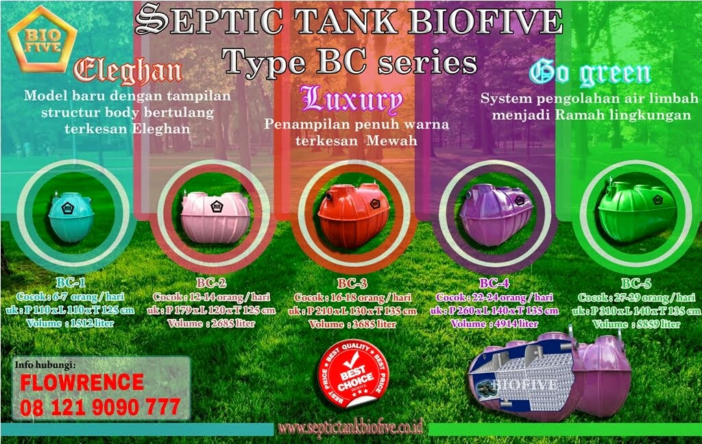 NEW ! SEPTIC TANK BIOFIVE BC SERIES