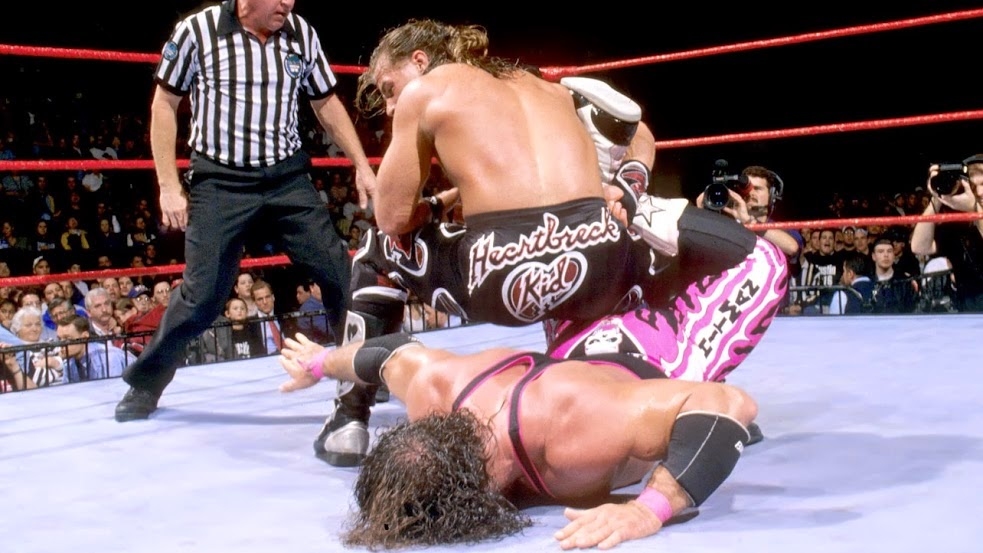 WWF / WWE - Survivor Series 1997 - Shawn Michaels and Bret Hart met for the last time in the Montreal Screwjob