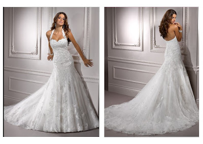 Halter Dress on Neckline Mermaid Wedding Dress Has The Feature Of Removable Halter