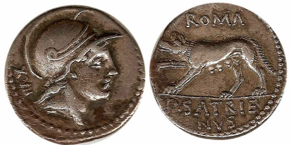 Herencia y denarios romanos