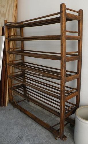 Antique Wooden Racks ~ Jim s vintage sold old wooden bread rack or bakers