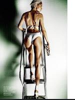 Doutzen Kroes shows off her hot body in a white bodysuit