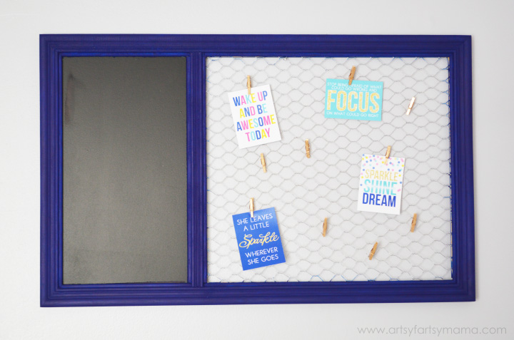 DIY Memo Board at artsyfartsymama.com