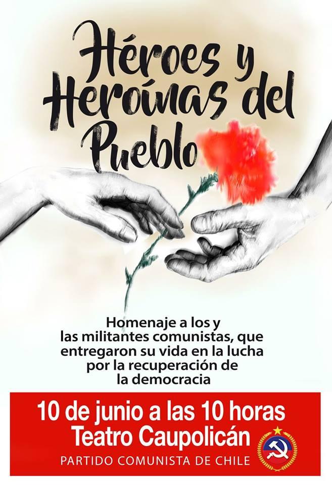 Homenaje a los y las militantes comunistas Héroes y Heroínas del Pueblo