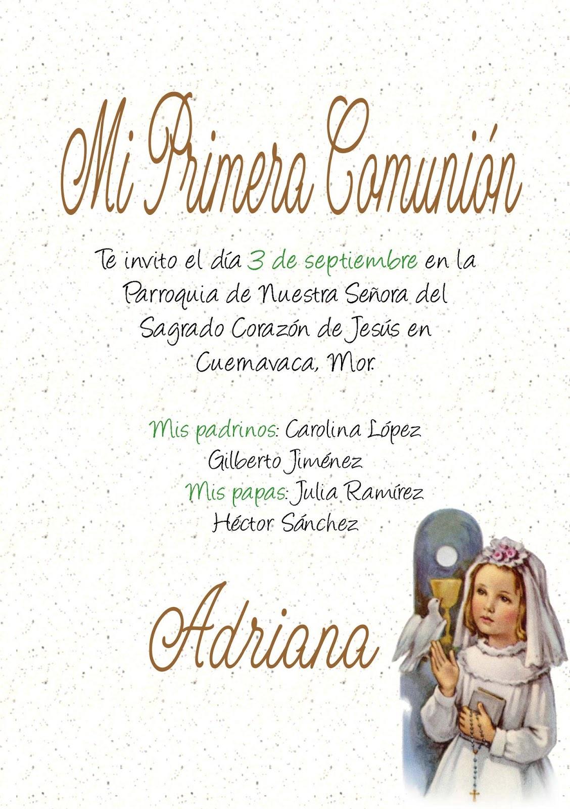 Invitaciones y Recuerdos: Invitaciones de Primera Comunión Nuevas