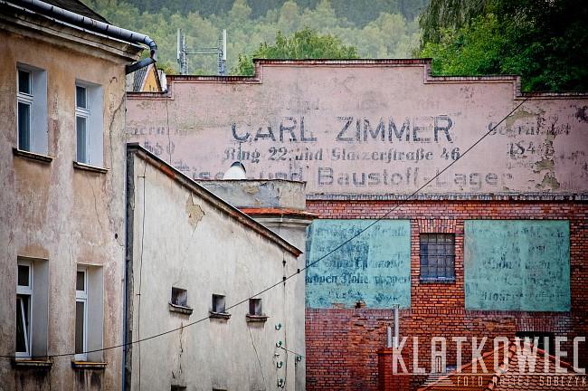 Nowa Ruda: skład materiałów budowlanych i żelaznych Carl Zimmer - przedwojenna reklama
