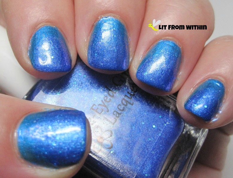 The next step was to add a gradient with Blue-Eyed Girl Lacquer 2014.