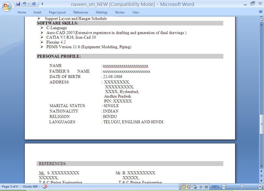 Resume Preparation Mahesh Info