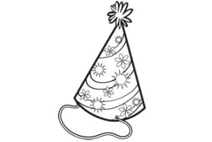 Coloring activity pages 06 16 11 for Coloring pages of birthday hats