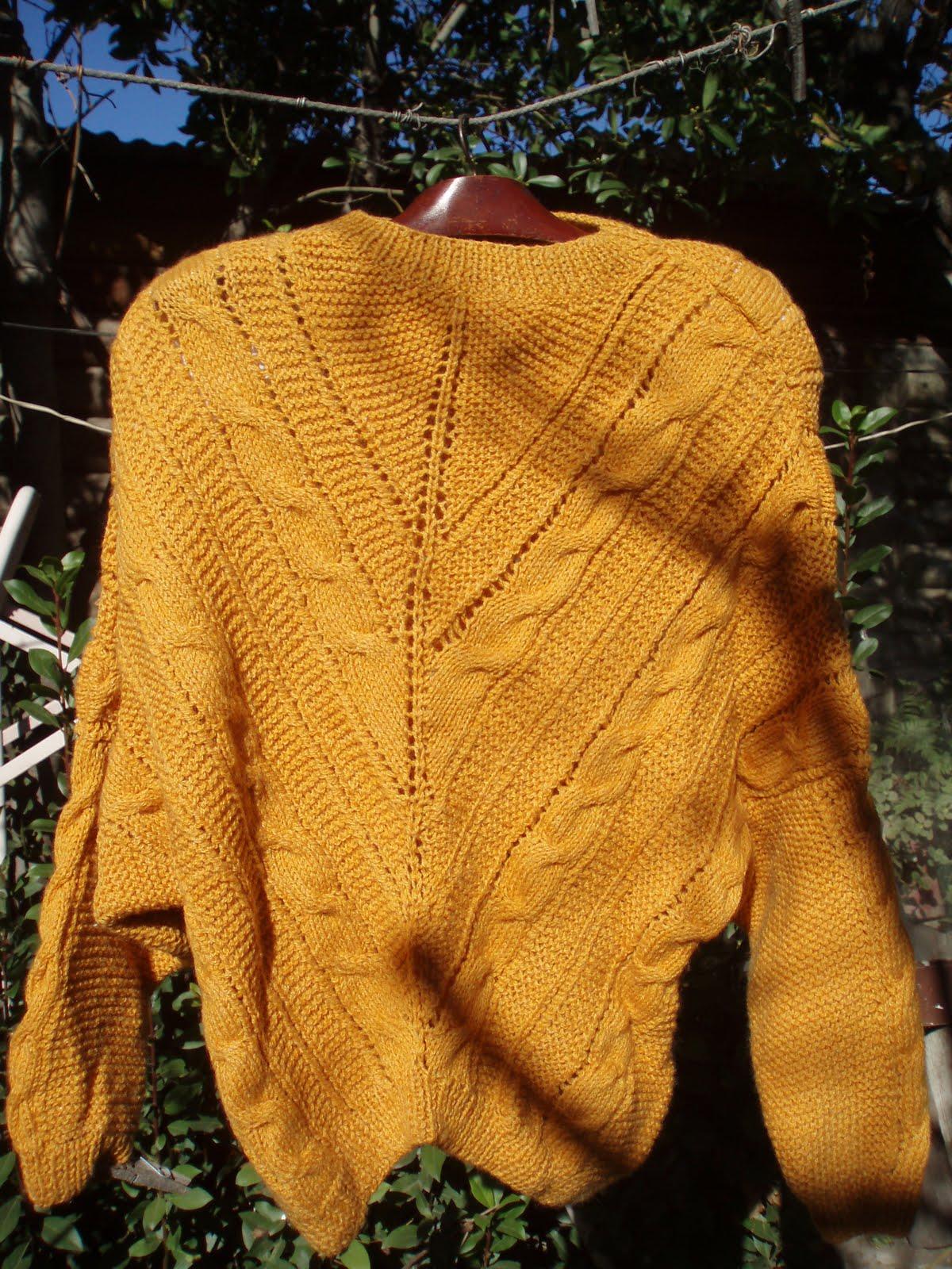 Teji este sueter con dos agujas en lana shetland doble