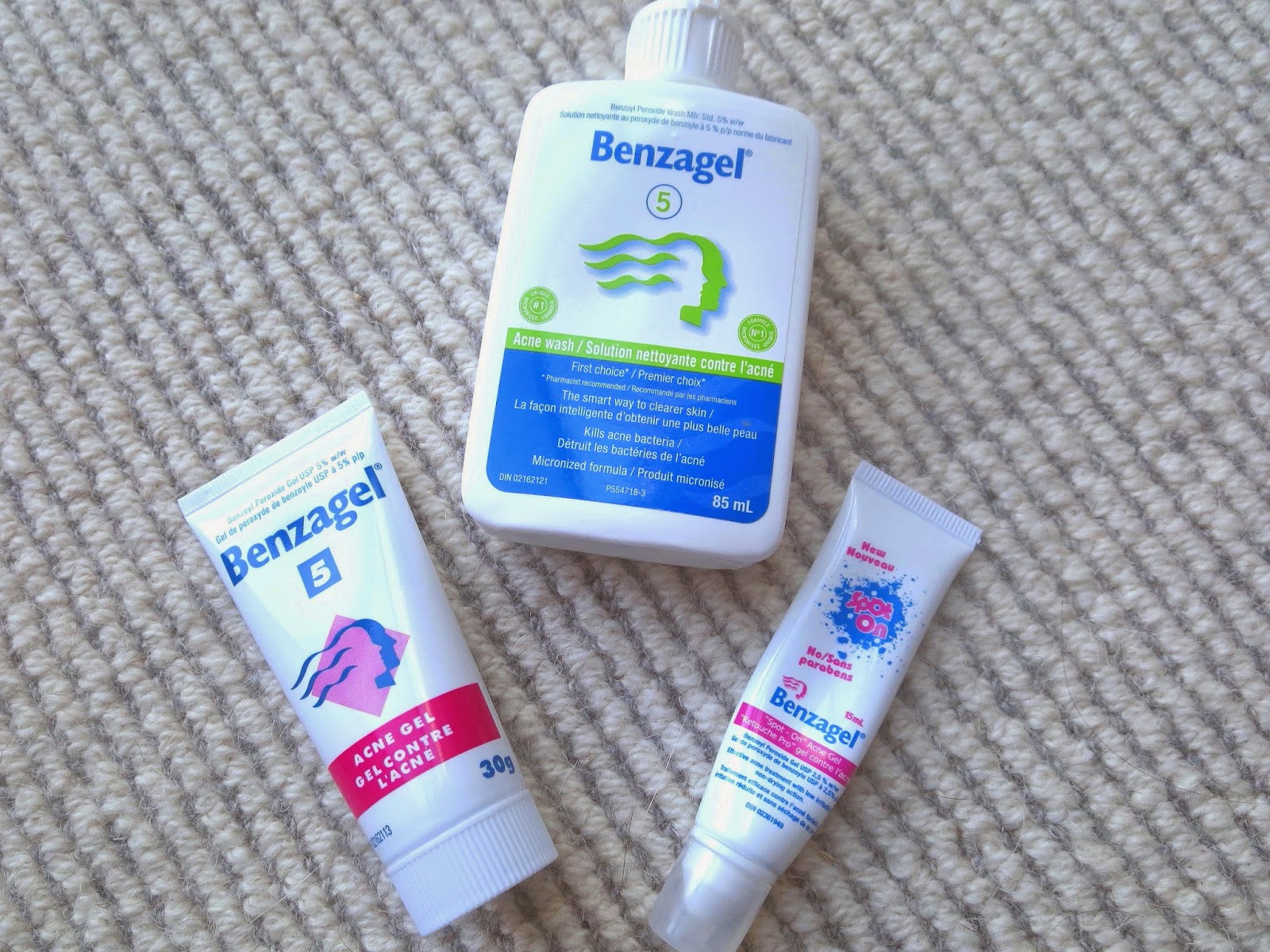 a picture of benzagel 5, benzagel Spot On, Benzagel acne wash