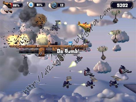 Free Download Games - Crazy Chicken Sky Botz
