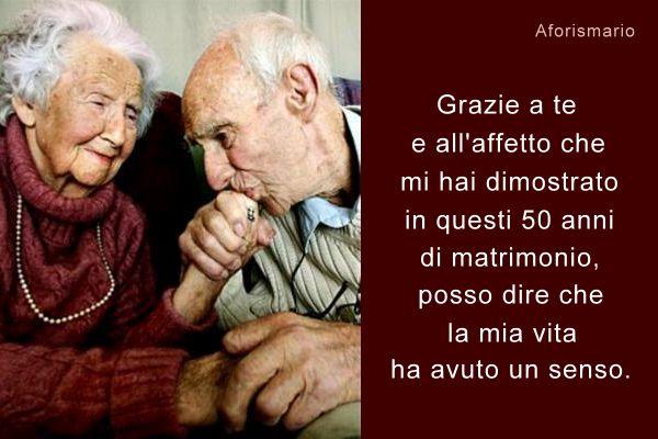 augurio di 50 anni di matrimonio