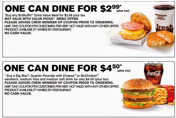 Mcdonalds coupons online order