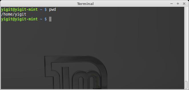 Linux pwd komutu