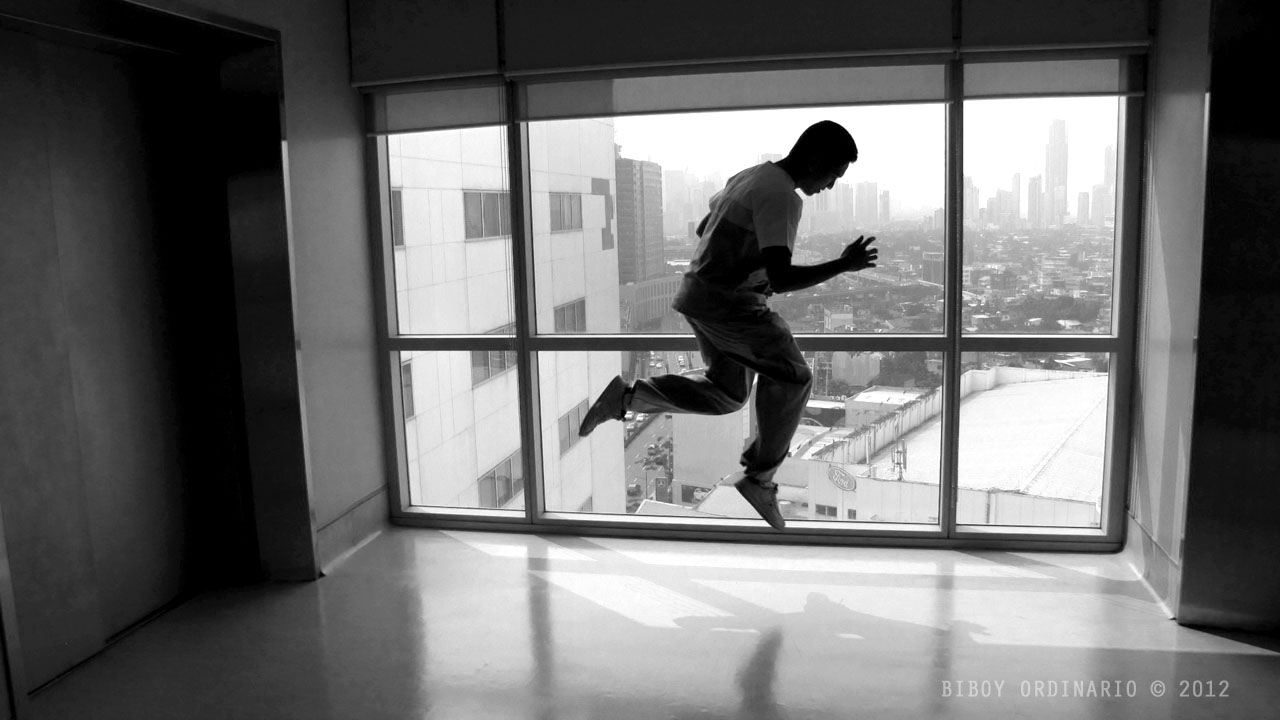 Floating person photography levitation