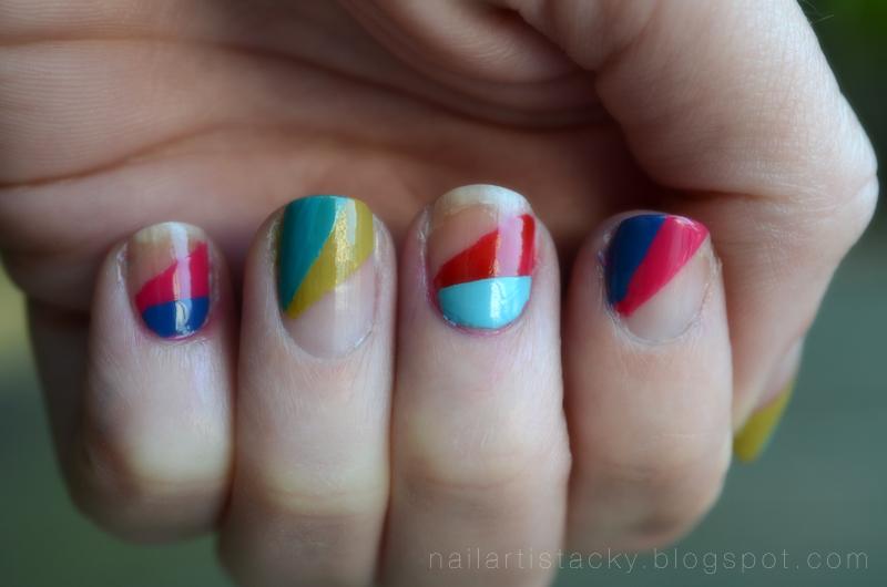 Rainbow Triangle Nails - Rainbow Nails - Nail Art