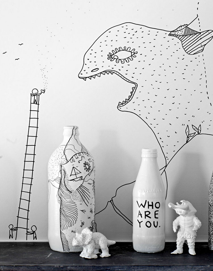wall drawn by Shantell Martin