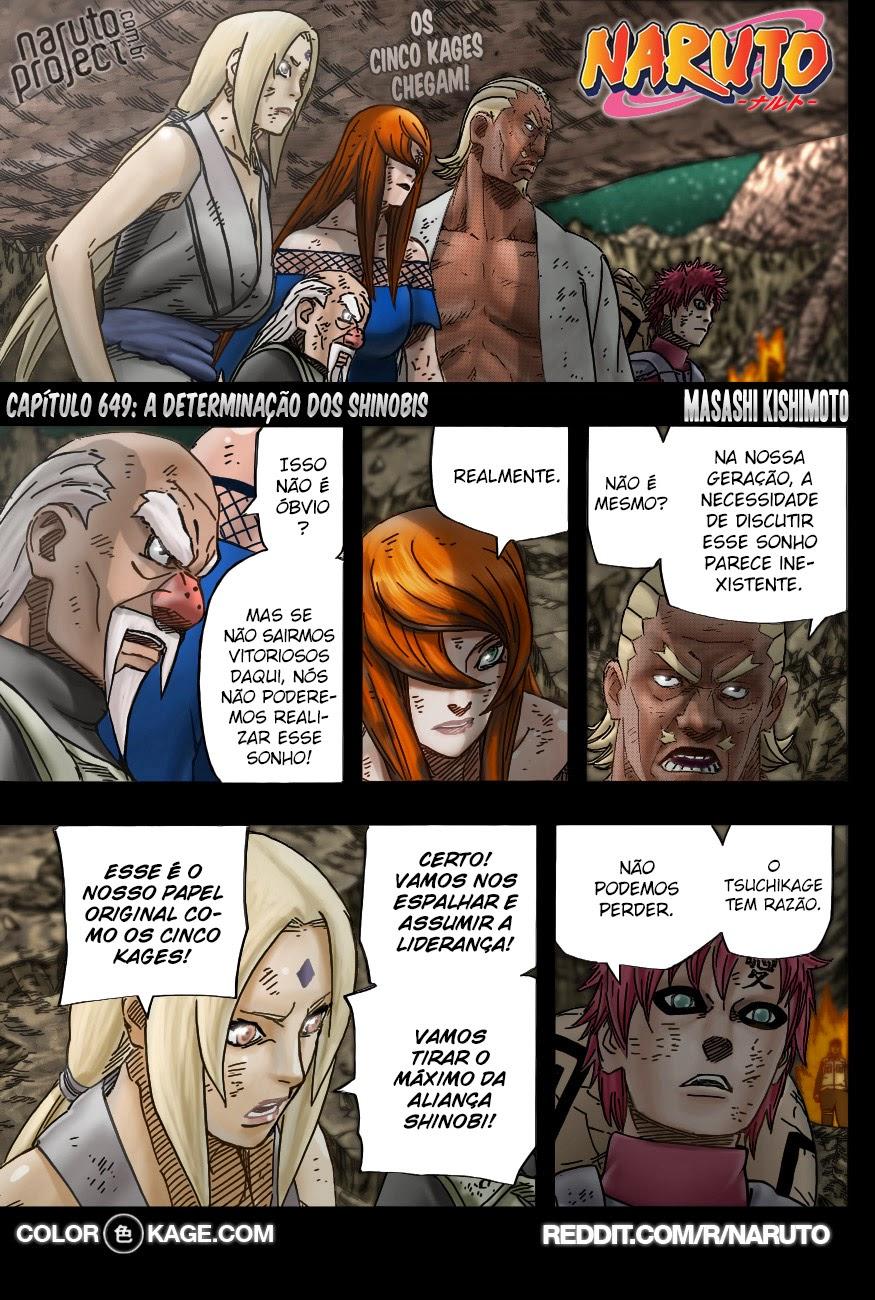 Naruto 649 Mangá Colorido em português leitura online