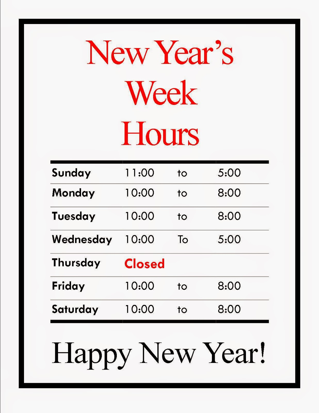 Forex new years hours 2014