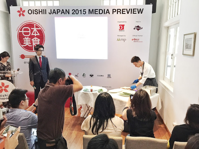 Oishii Japan 2015 - Live Tuna-cutting Demonstration