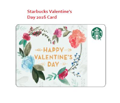 Starbucks VALENTINE'S DAY CARD