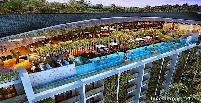 Meritus seminyak condotel bali for Rooftop swimming pool designing and planning