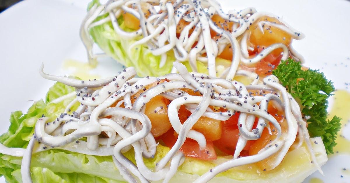 Blog de cuina de la dolorss cogollos rellenos de gulas for Cocinar nisperos