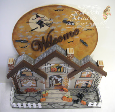 wood halloween house top