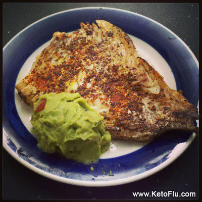Ketogenic Diet Haddock Recipe with Guacamole
