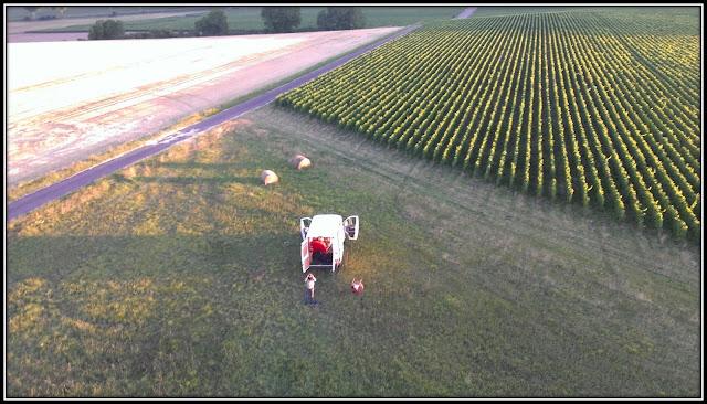 Baptême de montgolfière décollage vue vignes