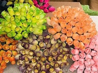 Lembranças de casamento flores de madeira