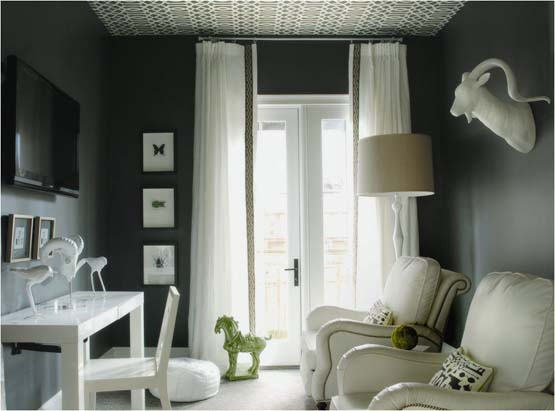 Classic Chic Home: Decorating with Dark Grey Walls