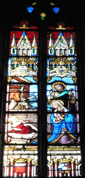 Kerstfeest-kerkraam in de Eglise Saint-Martin-du-Cahuzac