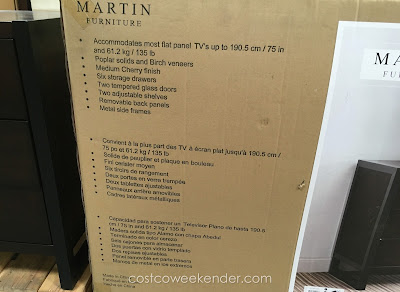 Complement your TV with the Martin Furniture Television Console
