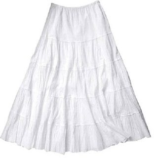 White Gypsy Skirt